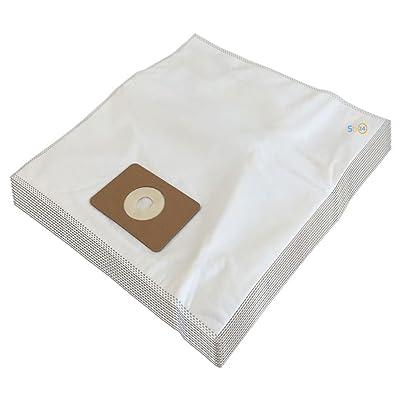10 (Microfibre) Sacs d'aspirateur pour NUMATIC 604015, NRV384, HVR200P, NVQ250T, Henry NVR 200, NVP 180 - 2, JVP-180, RSV-123P