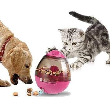 Dispensador de comida para perros Pawaca, juguete para perros con bola de tratamiento, vaso