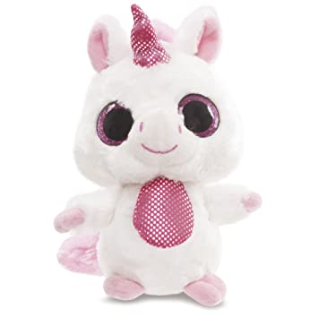YooHoo & Friends - Peluche con ojos brillantes Unicorn, 13 cm, color rosa (