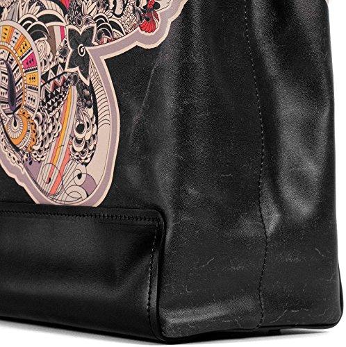 COLOURS OF MY LIFE , Cabas pour femme Multicolore noir Taille unique