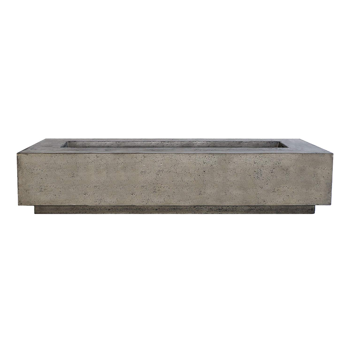 Prism Hardscapes Tavola 6 Concrete Gas Fire Pit (PH-415-4NG), Natural Gas, Pewter, 90x38-Inch by Prism Hardscapes