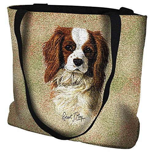 Pure Country Weavers - Cavalier King Charles Spaniel Hand Finished Large Woven Tote Bag Cotton ()
