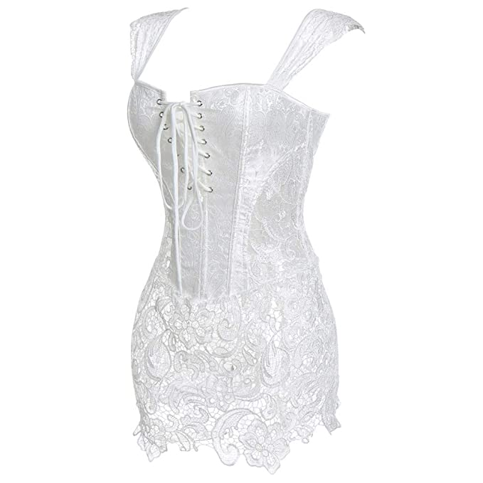 Zzebra White S 6xl Sexy Steampunk Corsets And Bustiers