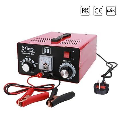 Beleeb Cargador de batería For 12V 24V 36V 48V 60V 72V Batteria al Piombo Acido, Batteria Li, MF, VRLA BLB-C30