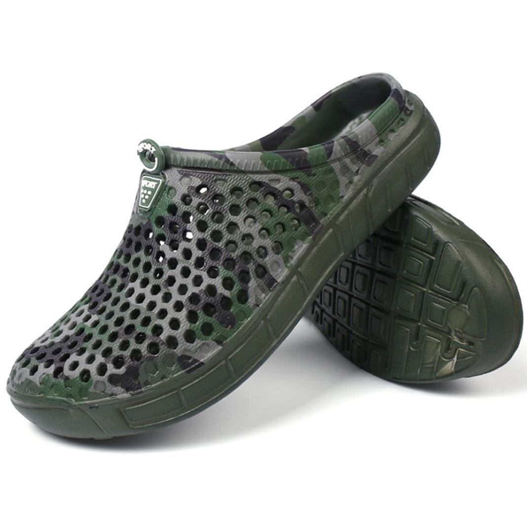 公式サイト fimkaulメンズクイック乾燥夏ビーチスリッパ、ホット販売フラット通気性アウトドア迷彩サンダルオスカジュアル穴Baotouビーチ靴 7.5 7.5 US US アーミーグリーン B07CV9J4R9 B07CV9J4R9, 品多く:226f3d60 --- a0267596.xsph.ru