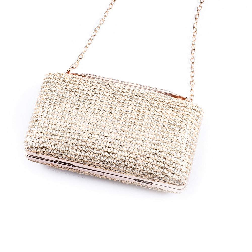 Kathleen Chance Bride Dress Small Female Bag Hand Take Box Bamboo Woven Material Evening Bag