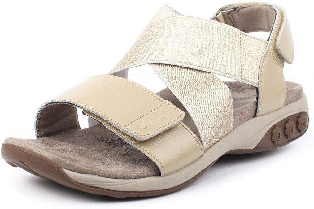 Calle principal De confianza feo  Amazon.com: Therafit Jessica - Sandalia de piel con correa cruzada  ajustable para fascitis plantar y dolor de pies: Shoes