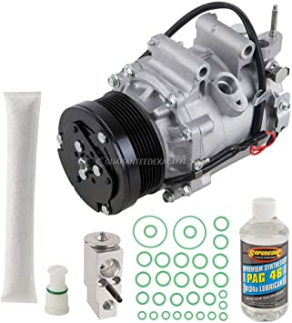 BuyAutoParts 60-81188RK NEW AC Compressor /& A//C Repair Kit For Honda Civic Coupe 1.8L w// 3-Pin Connector 2006 2007 2008 2009 2010 2011