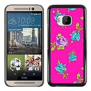 - Purple Teal Vibrant Floral Art - - Monedero pared Design Premium cuero del tir???¡¯???€????€????????????