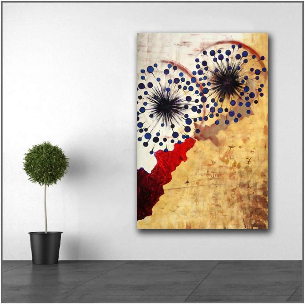 Cuadro en lienzo Cher grande floral abstracto Pintura de impresión Arte de la pared Imagen Decoración para el hogar Sala de estar Moderna -30x50 cm / 11.8