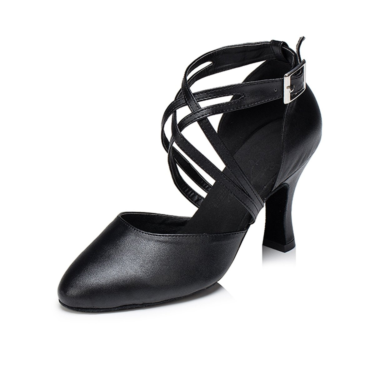 Miyoopark Ladies Ankle Wrap Buckle Leather Tango Latin Ballroom Dance Shoes Female Evening Pumps: Amazon.co.uk: Shoes & Bags