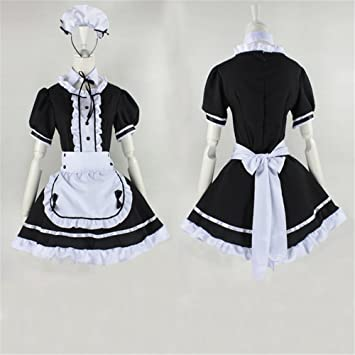 Amazon.com: Cosplay Maid dress Japanese Anime customes ...