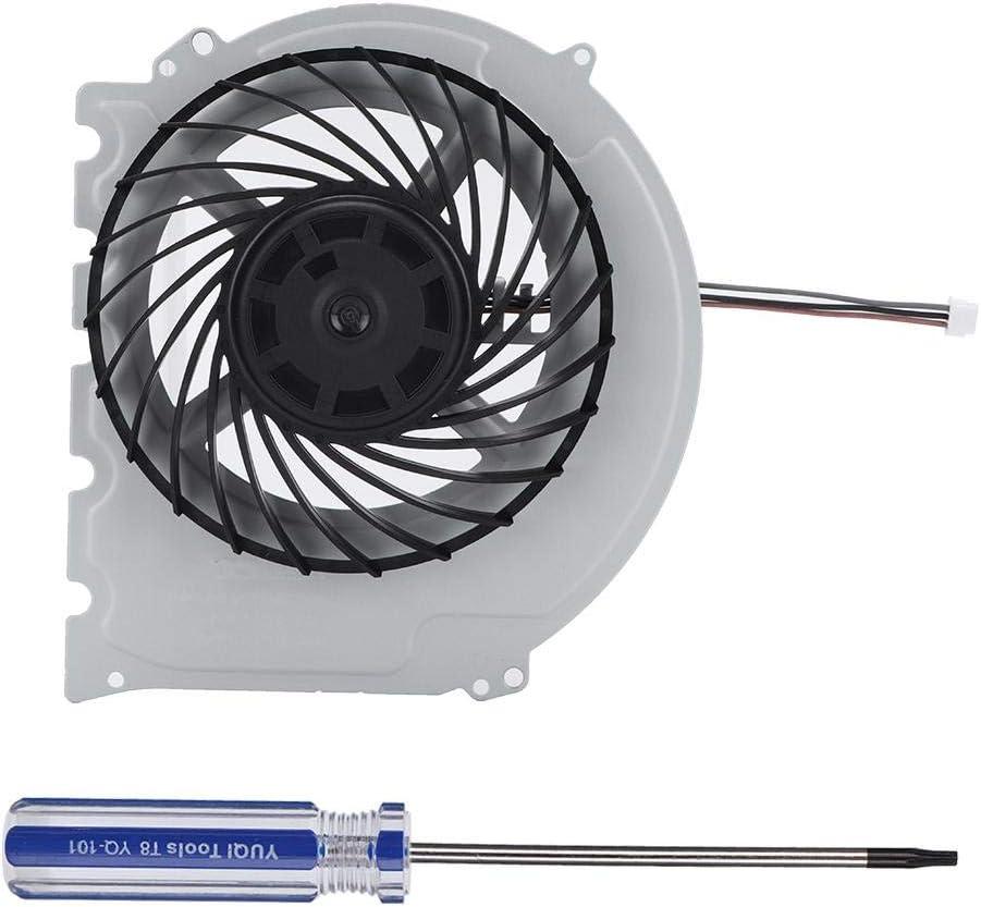 Wendry Ventilador de refrigeración de la CPU,Ventilador de refrigeración Interno Disipación rápida del Calor Ventilador Incorporado Ventilador silencioso con Destornillador para PS4 Slim 200