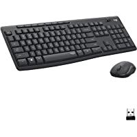 Logitech MK295 Wireless Mouse & Keyboard Combo with SilentTouch Technology, Full Numpad, Advanced Optical Tracking, Lag…