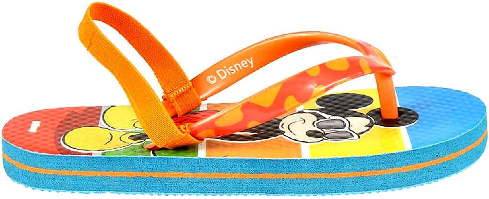 | Orange Tailles du 24 au 31 avec Bande /Élastique Mickey Mouse Tongs Gar/çon Disney /Ét/é 24//25-26//27