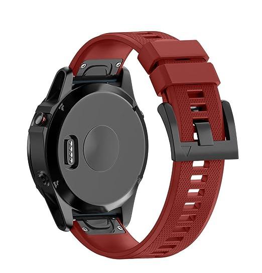 22mm nuevo estilo reloj banda de reemplazo,Koly popular banda de reloj de correa de silicona reloj GPS para Garmin Fenix 5