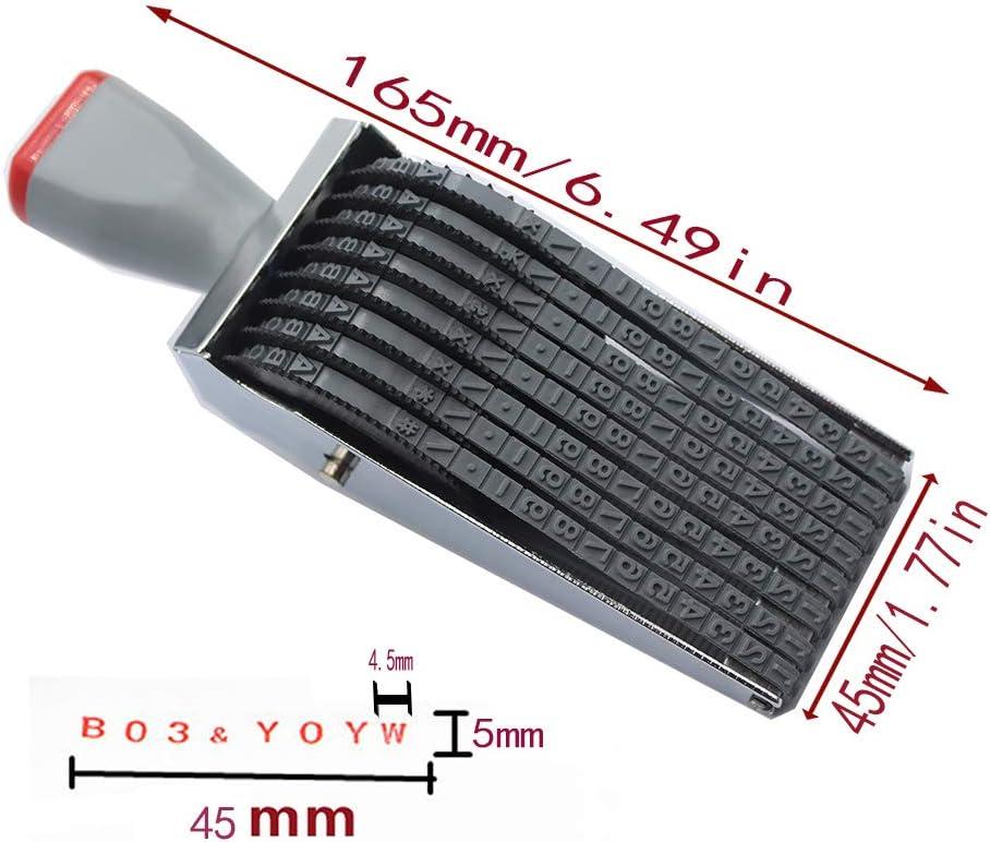 Digit Rolling Stempel Personalisierte Englisch Alphabet Nummer Symbol Scrapbooking DIY Gummi Stationery B/üro Tisch Decor 8-Bit Rolling Stamp