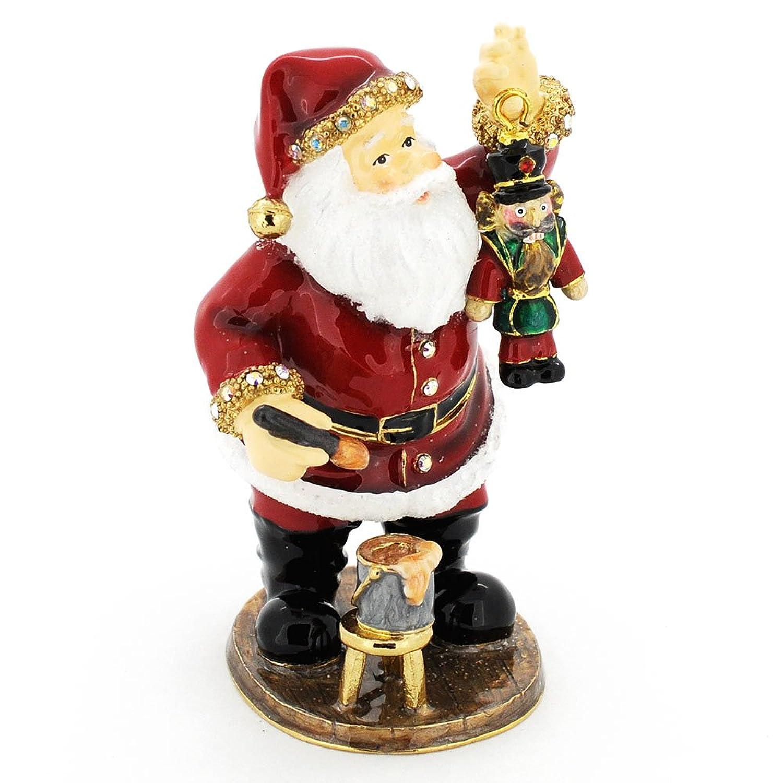 Christmas Santa With Nutcracker Christmas Trinket Box