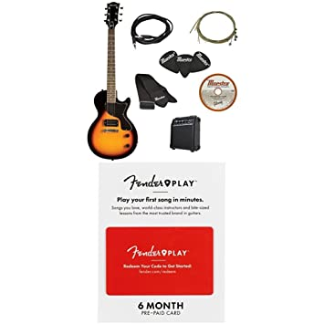 amazon vintage sunburst with 6 month fender play gift card