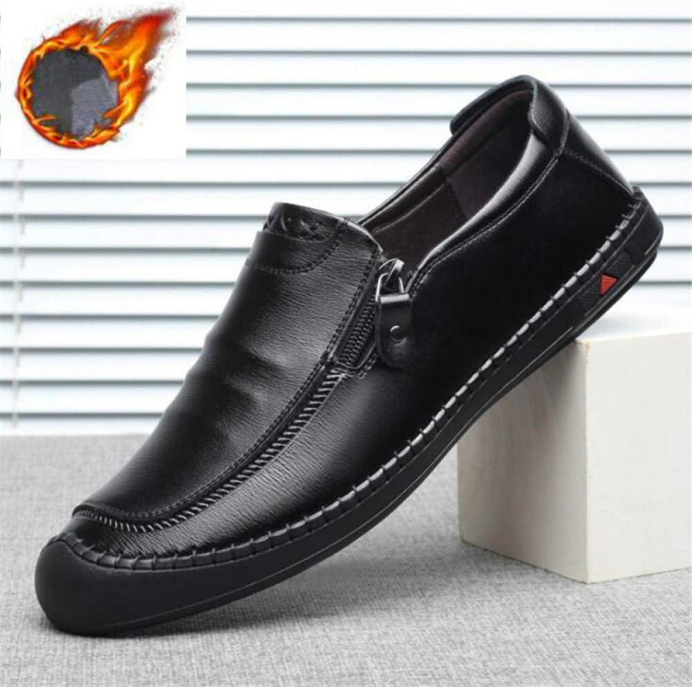 WOERJFBSK Mesh shoes Men'S Soft Leather