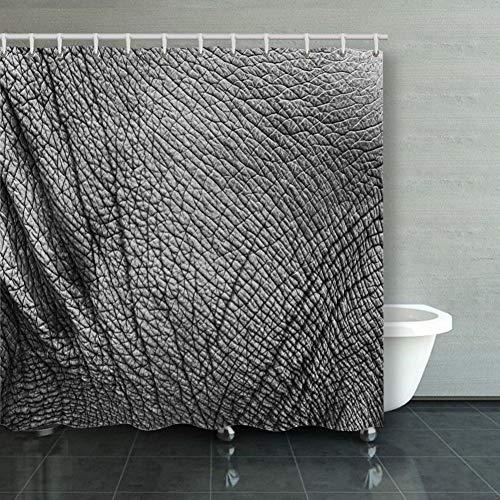 Shower Curtain Elephant Skin Texture Monochrome Closeup Backgrounds Nature Summer Main Shower Curtain, Waterproof Bath Curtain Sets with 12 Hooks 60