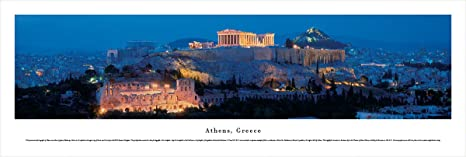 Amazon Com Blakeway Worldwide Panoramas Athens Greece Blakeway Panoramas Unframed Skyline Posters Posters Prints