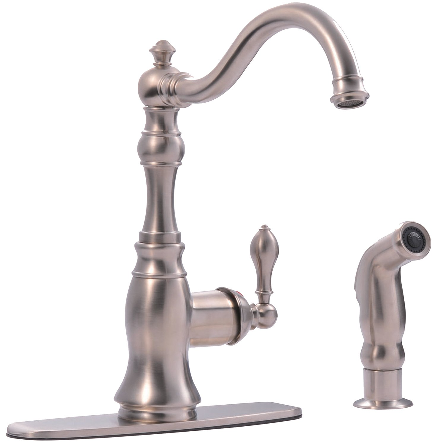 Ultra Faucets UF11243 Signature Collection Single-Handle Kitchen ...