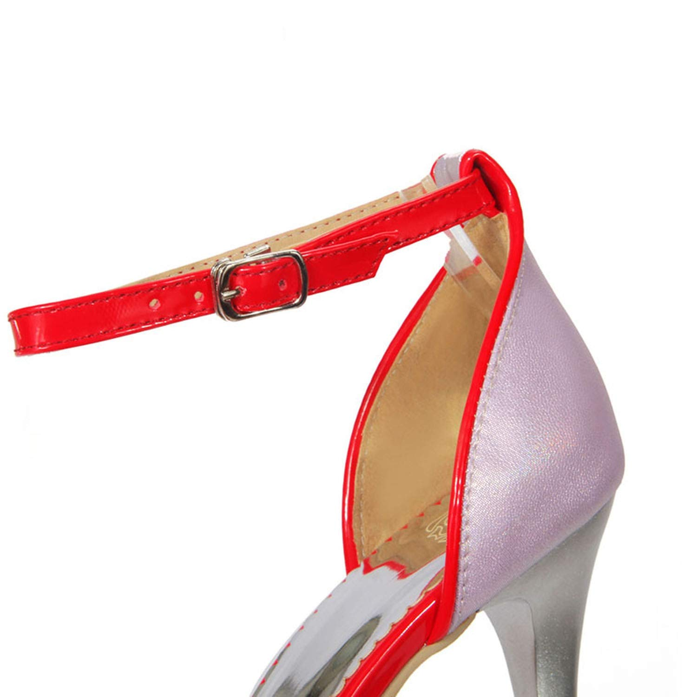 Summer Women Sandals High Heels Sandals Women Shoes Open Toe Ankle Strap Dance Shoes Rm519