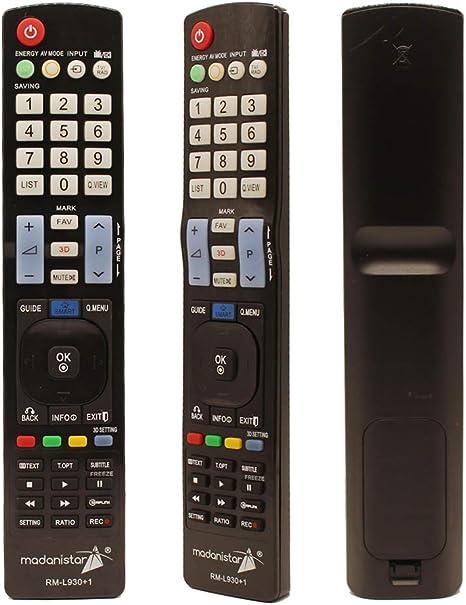 Mando a Distancia Universal para LG Smart 3D LED LCD HDTV TV: Amazon.es: Electrónica