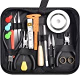 Paxcoo 32Pcs Jewelry Making Supplies Repair Kit with Jewelry Pliers and Beading Wire