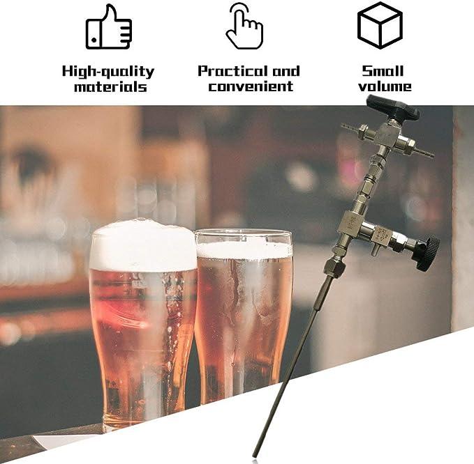 Panamami Kit de Manguera de 3 vías de llenado de Botella de Cerveza de contrapresión de Acero I...