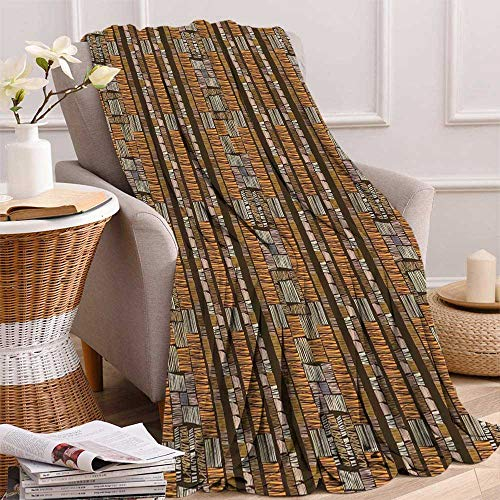 maisi Ethnic Digital Printing Blanket African Culture Tribal Ornamental Stripes with Earthy Classical Timeless Motifs Summer Quilt Comforter 62