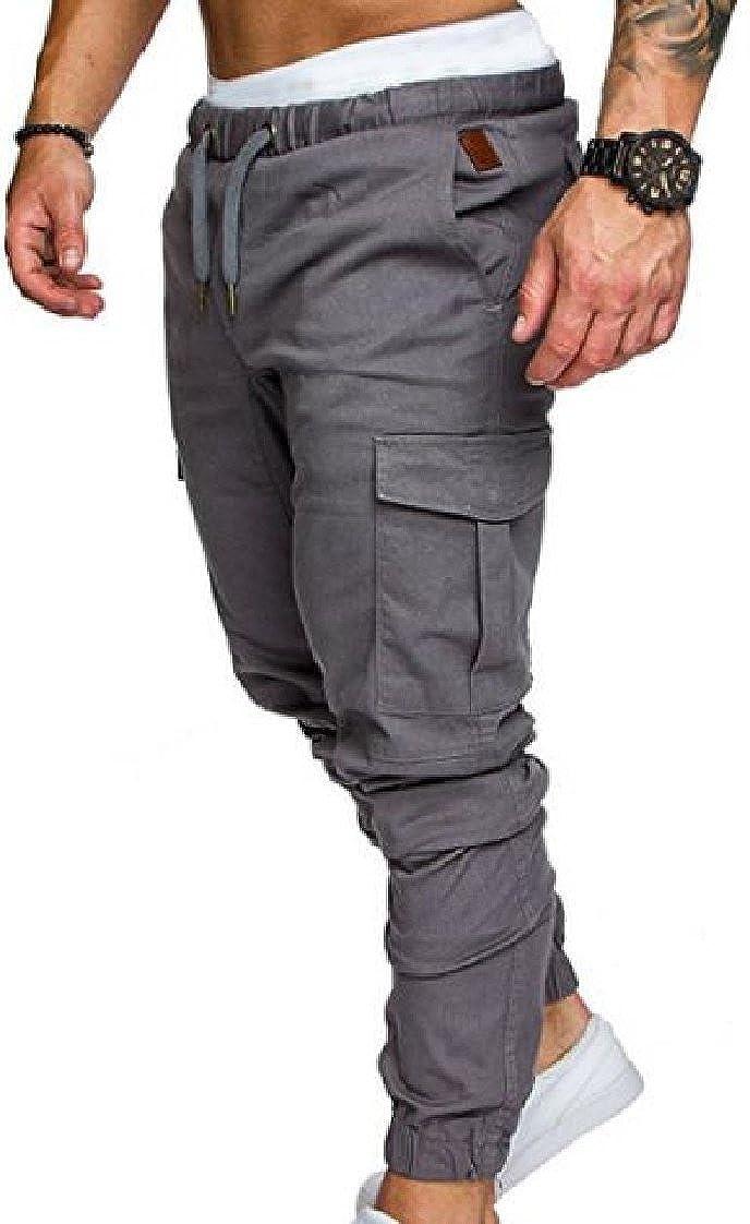 Coolred-Men Elastic-Waist Straps Haren Pants Loose Jogger Sport Pants