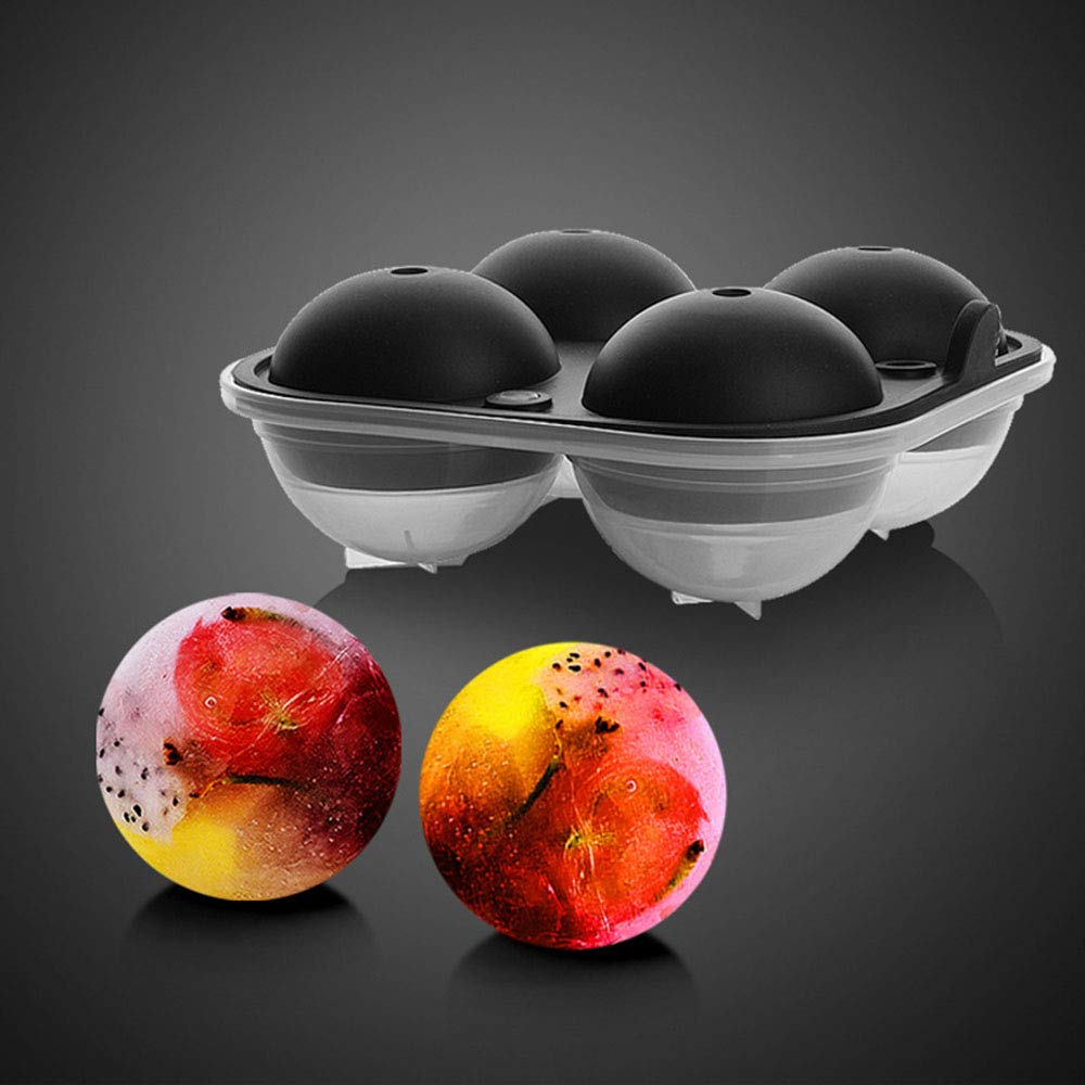 Ice Ball Mold, VSTYLE Silicone Ice Cube Tray Sphere Round Ice Ball Maker, Makes 4Pcs 2\
