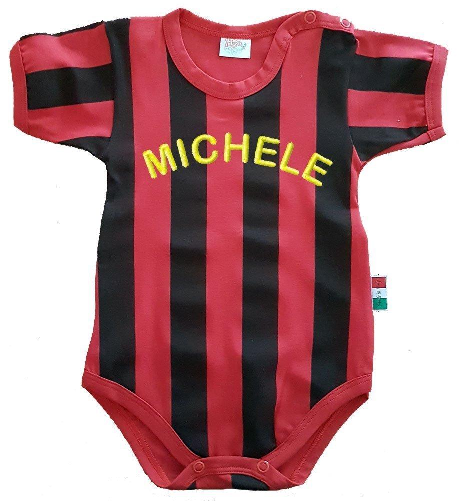 Zigozago - Body con rayas rojas y negras - MILAN