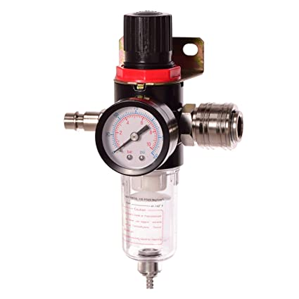 Filtro de aire comprimido unidad de mantenimiento Reductor de presión 1/4 Regulador para