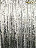 ShinyBeauty Mermaid-Sequin Curtain Backdrop-Silver-10FTx8FT,Sparkyly Sequin Fabric Curtain Backdrop,Perfect for Party/Wedding/Event/Prom/Birthday