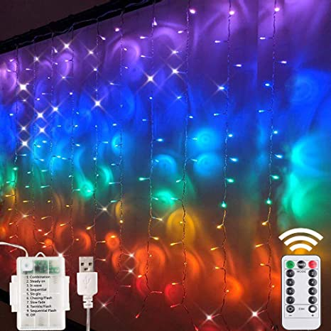 IP44 Etanche Maxsure Guirlande Lumineuse Multicolore USB 5M 50 LEDs Fairy Lights 8 Modes et 12 Couleurs Fils en Cuivre avec T/él/écommande D/écoration Luminaire pour Jardin Maison F/ête Mariage
