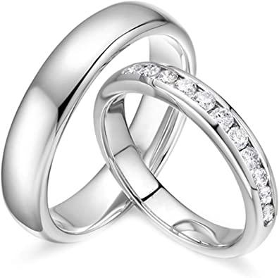 Classic Groom Wedding Band 925 Sterling Silver Or White Gold Diamond Ring Mens Anniversary Gift For Him White Diamond Wedding Ring Mens