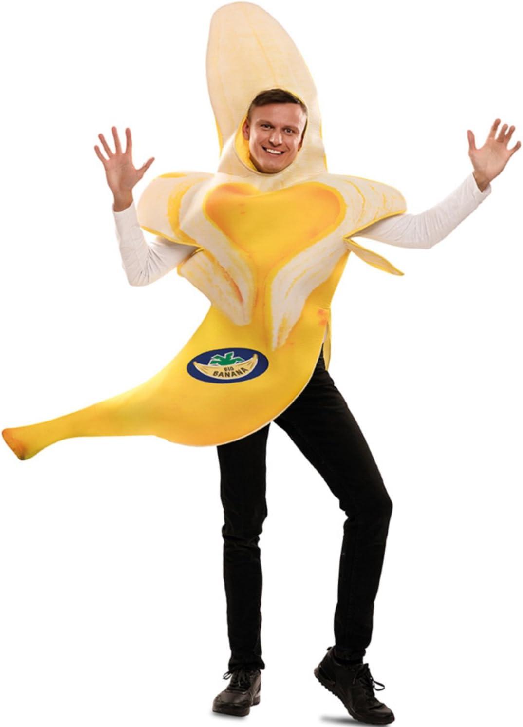 EUROCARNAVALES Disfraz de Plátano para adultos: Amazon.es ...