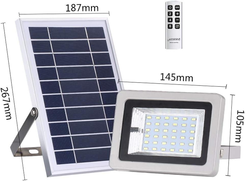 LED Lampara de Solar con control remoto, luz de seguridad con paneles solares, iluminación solar impermeable Exterior for garaje, piscina, calle, letrero, cartelera (Color : 100 LED): Amazon.es: Iluminación