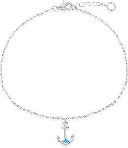 Rose Gold Tone over Sterling Silver Polished Anchor Adjustable Bracelet