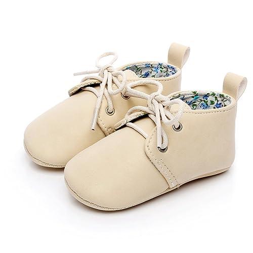 8bb17f8297ab HONGTEYA Baby Girl Boy Lace-up Soft Sole Moccasins Anti-Slip Newborn  Toddler Sneakers
