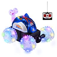 Aockis Toys for 3-12 Year Old Boys, Remote Control Car for Kids Double Sided 360°Spins & Flips Stunt RC Cars Toys with LED Lights
