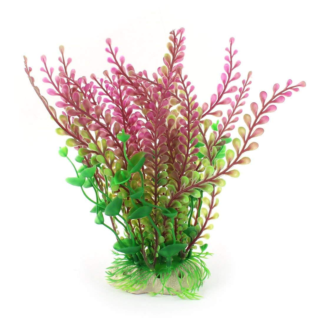 1Pc Silicone Manmade Fish Tank Water Landscape Plant Grass Yellow