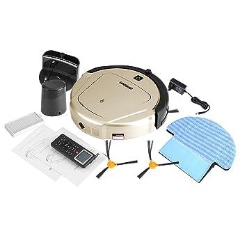 ... Automático D750 Tiempo Configurable Robot Inteligente Aspirador Limpiador de Piso Barrido Succión Máquina de Barrido Robot(Golden EU): Amazon.es: Hogar