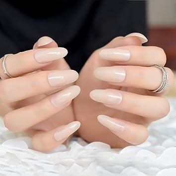 EchiQ - Puntas de uñas postizas ovaladas y redondas de gel ...