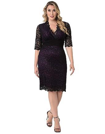 3878c2a04db Kiyonna Women s Plus Size Lumiere Lace Dress at Amazon Women s Clothing  store