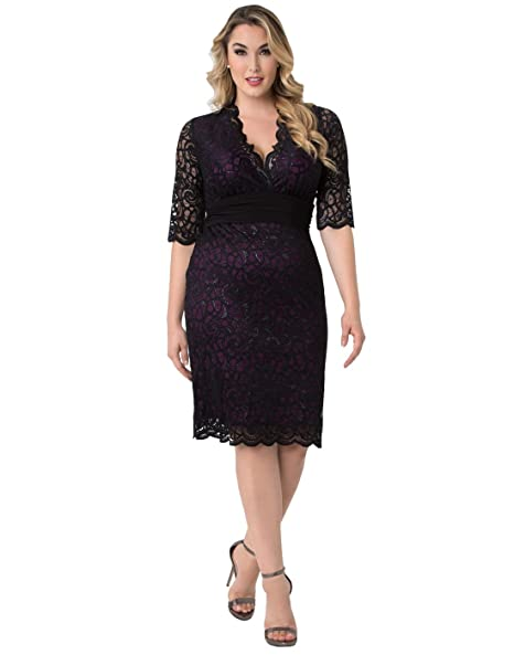 Kiyonna Women\'s Plus Size Lumiere Lace Dress