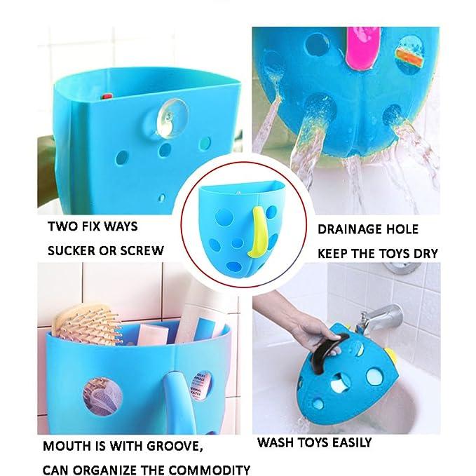 Cubo de almacenamiento - Organizador de juguetes para baño bebé juguetes bolsa de baño niños Red Super espacios para bañera con Magic Cube: Amazon.es: Bebé